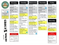 April Group Fitness Schedule