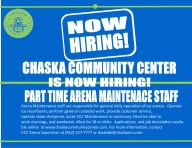 NOW HIRING! Part Time Arena Maintenance Staff