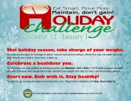 Maintain Dont Gain Holiday Challenge