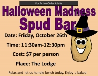 Halloween Madness Spud Bar for Active Older Adults