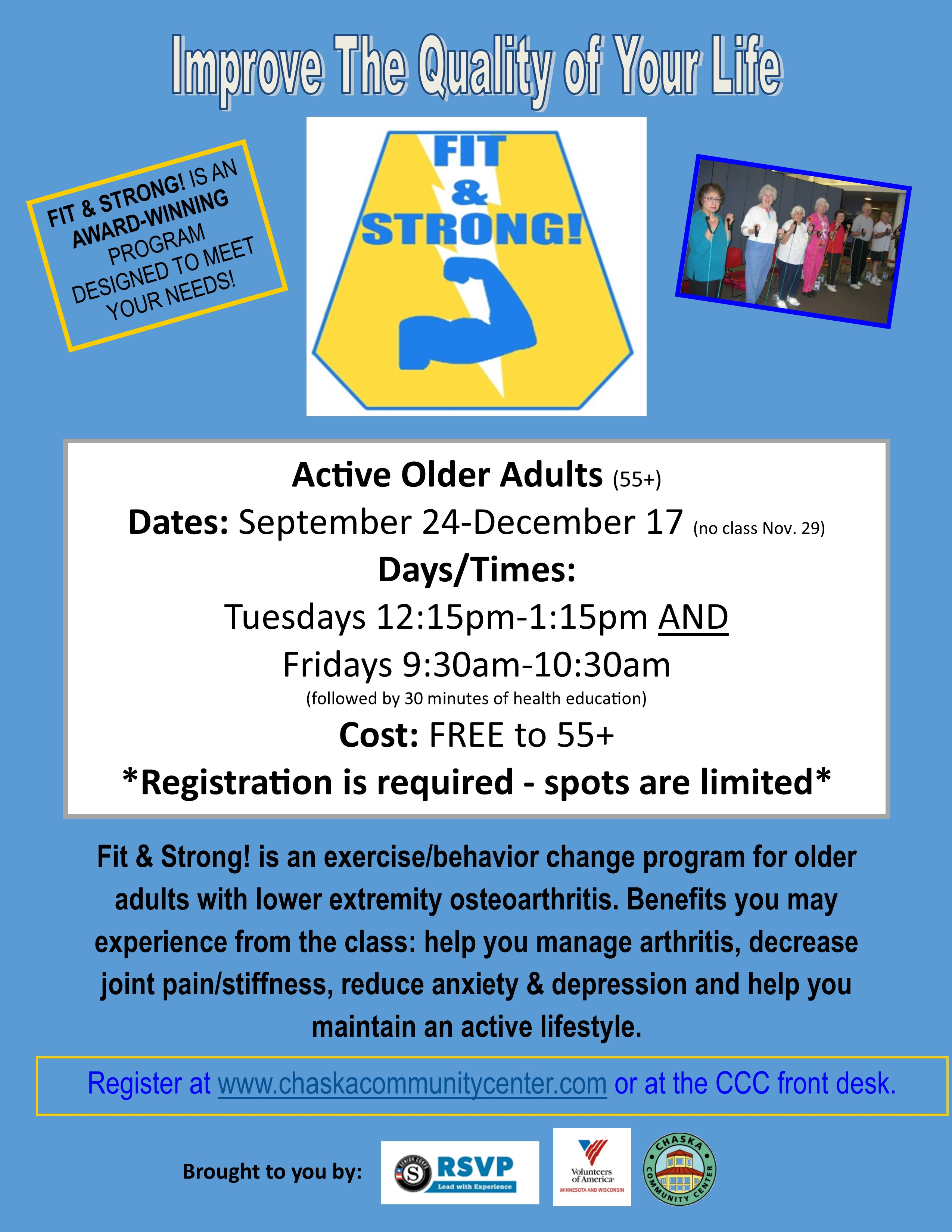 Fitness & Wellness - Chaska Parks and Recreation Department